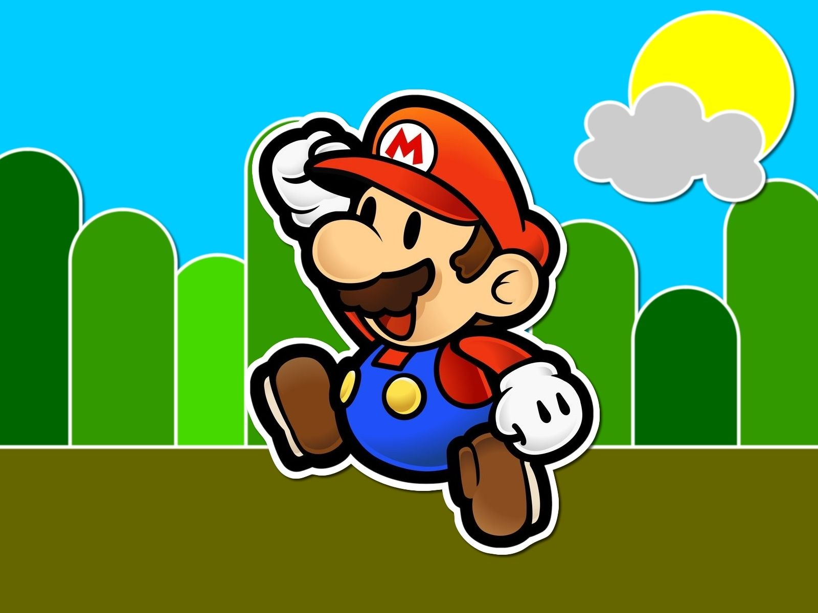 Paper Mario Wallpaper Super Mario Bros 5431535 1600 1200 Jpg 1600