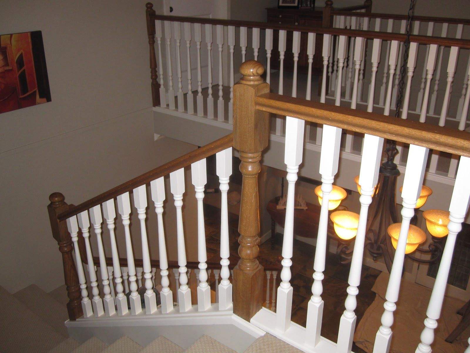 Best White Painted Wood Railing Leaving The Post Beams Wood 400 x 300