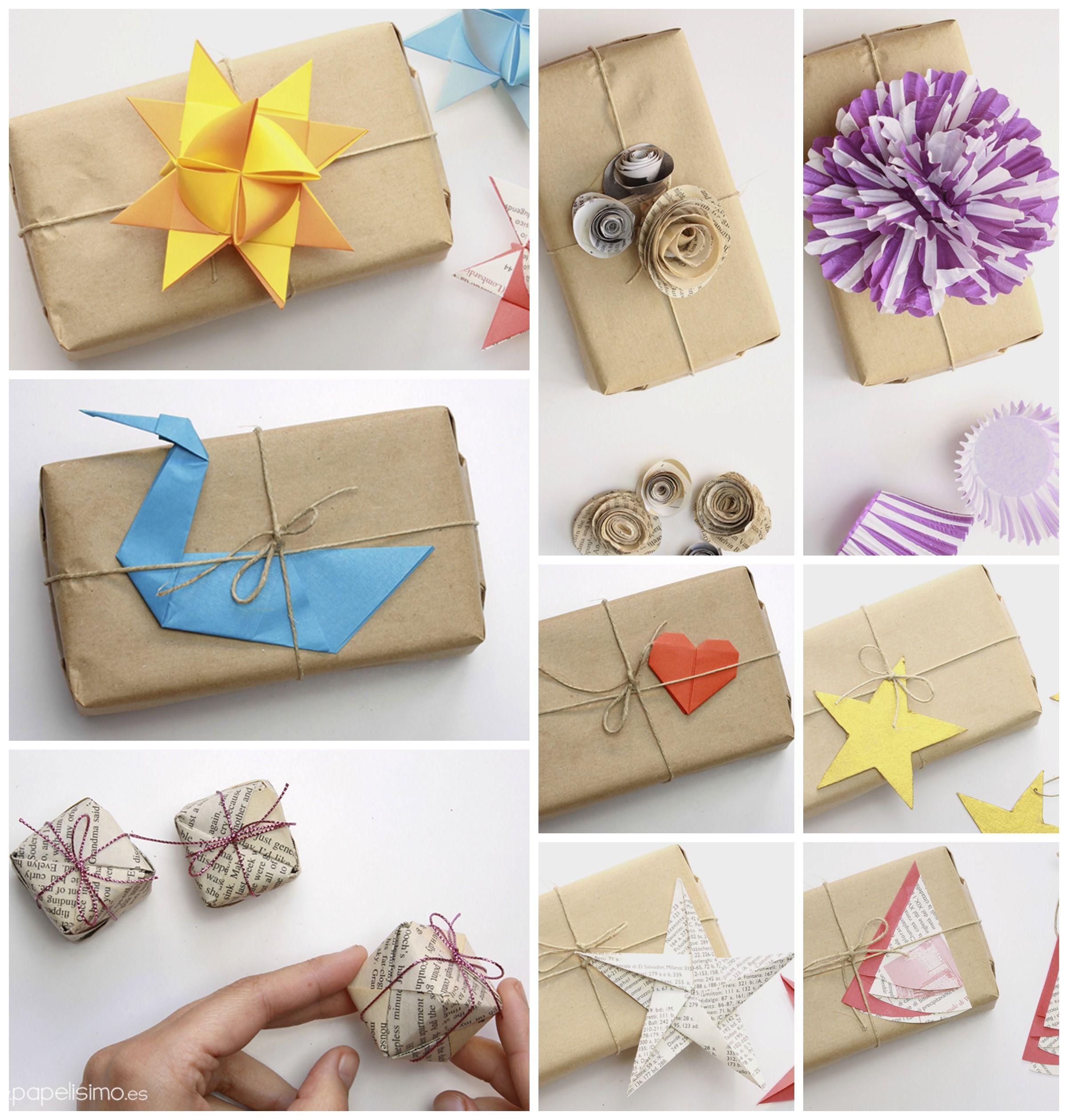 Envolver regalos originales con papel embalar craft - Regalos envueltos originales ...