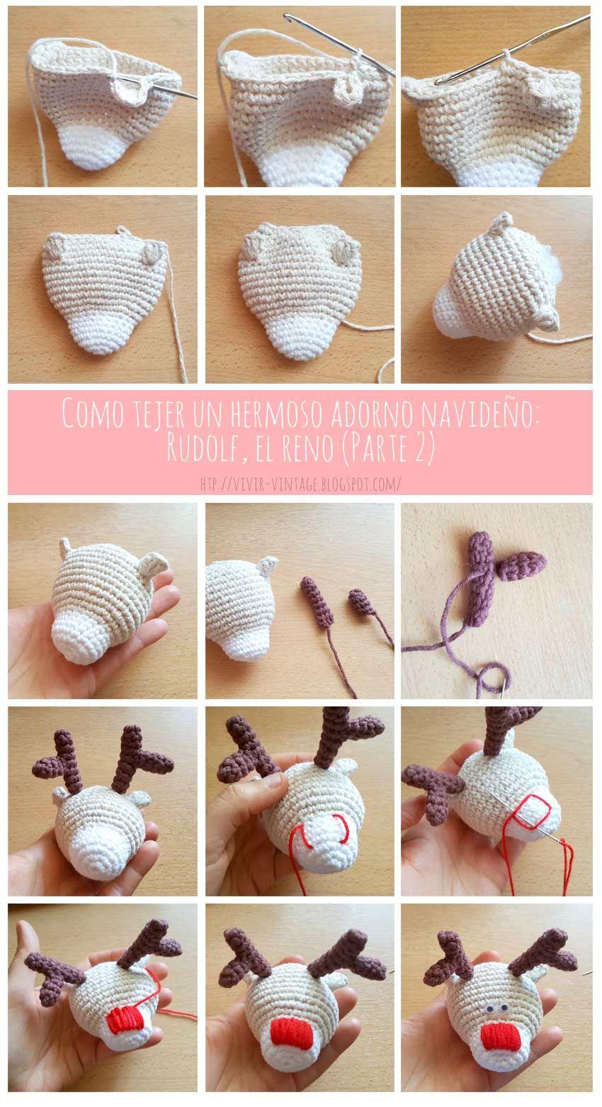 Amigurumi reindeer ornament - free pattern /// patron gratis reno ...
