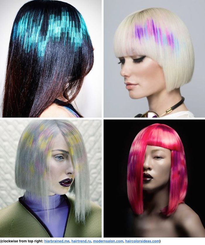 Stylenoted Com Wp Content Uploads 2015 08 Pixel Hair Jpg Pixie Hair Color Hair Styles Rainbow Hair