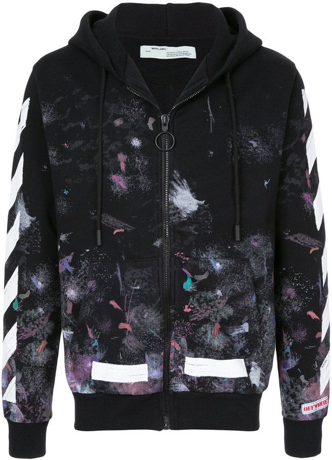 944a8332 OFF-WHITE Diag Galaxy hoodie | Designer in 2019 | Off white jacket ...