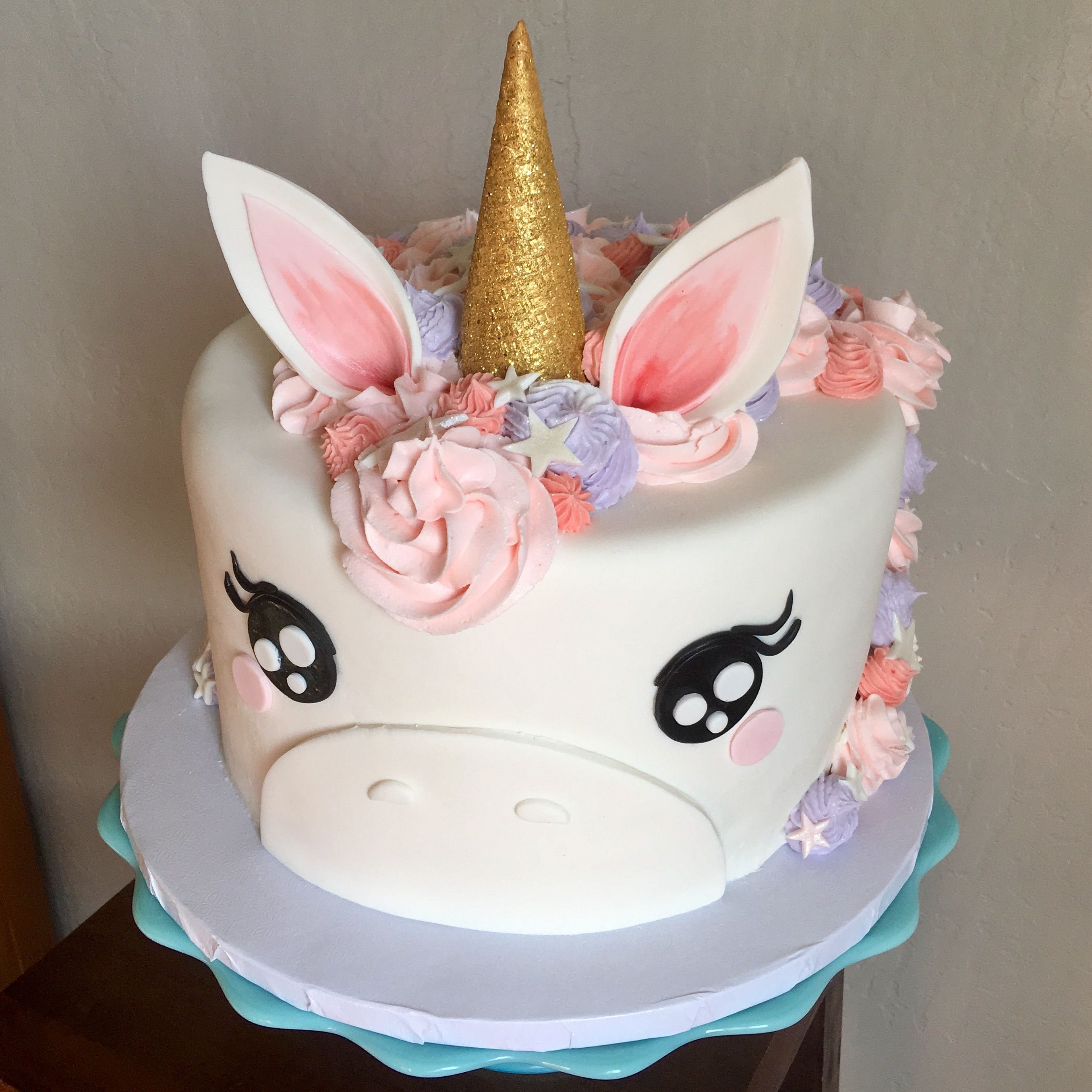 Pink And Purple Unicorn Cake