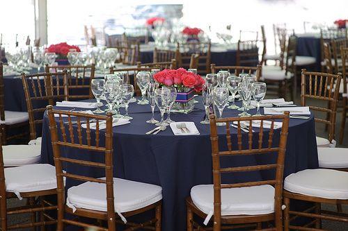 Ladies I Need Help Weddingbee Navy Tablecloth Blue Wedding