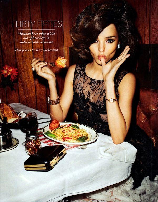 """Flirty Fifties"": Miranda Kerr by Terry Richardson for Bazaar US"