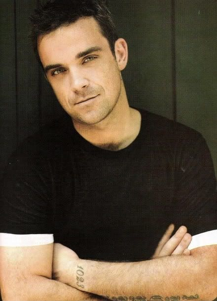 Robbie Williams, my first crush (must have been 1995) :)