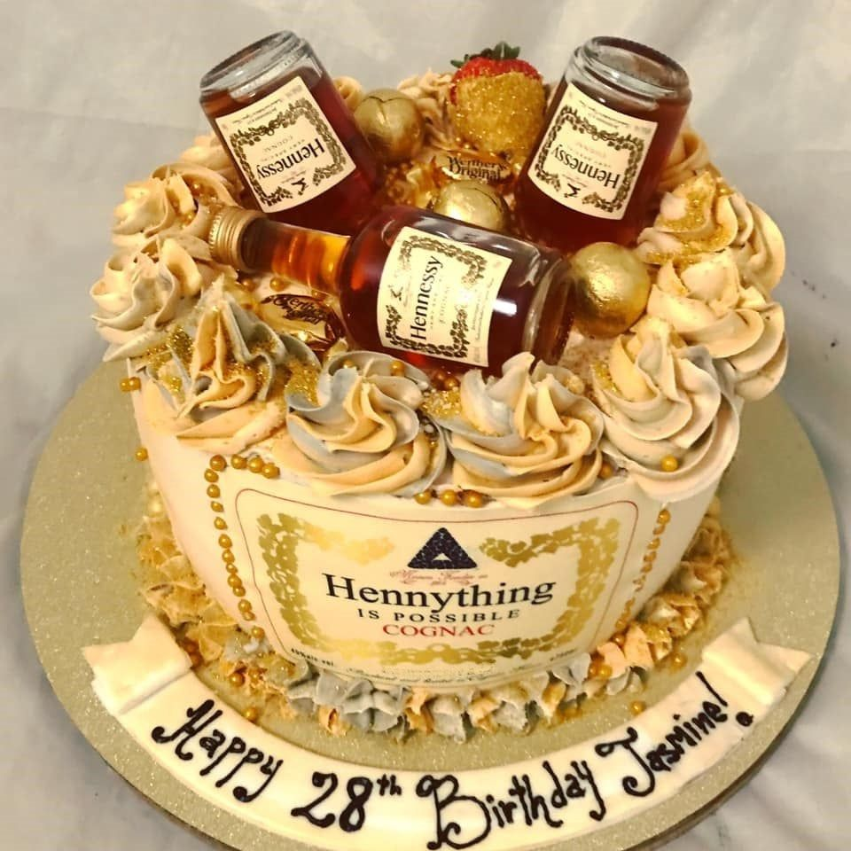 Hennything Is Possible Cake Topper Hennessy Cake Topper Edible Hennessy Image Ediblecaketoppers Hennessyb Hennessy Cake Liquor Cake Alcohol Birthday Cake