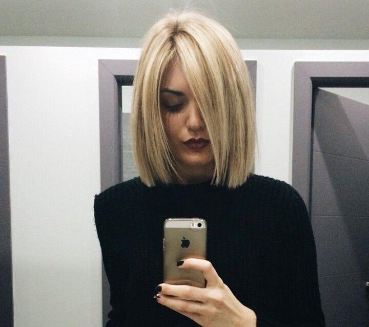 Medium Length Blunt Haircuts With Bangs 57