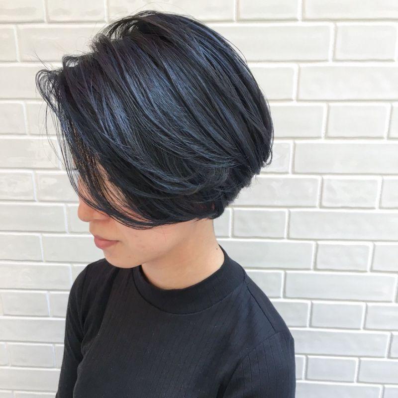 暗髪さんでも楽しめるヘアカラー ネイビーブラック ってご存知です