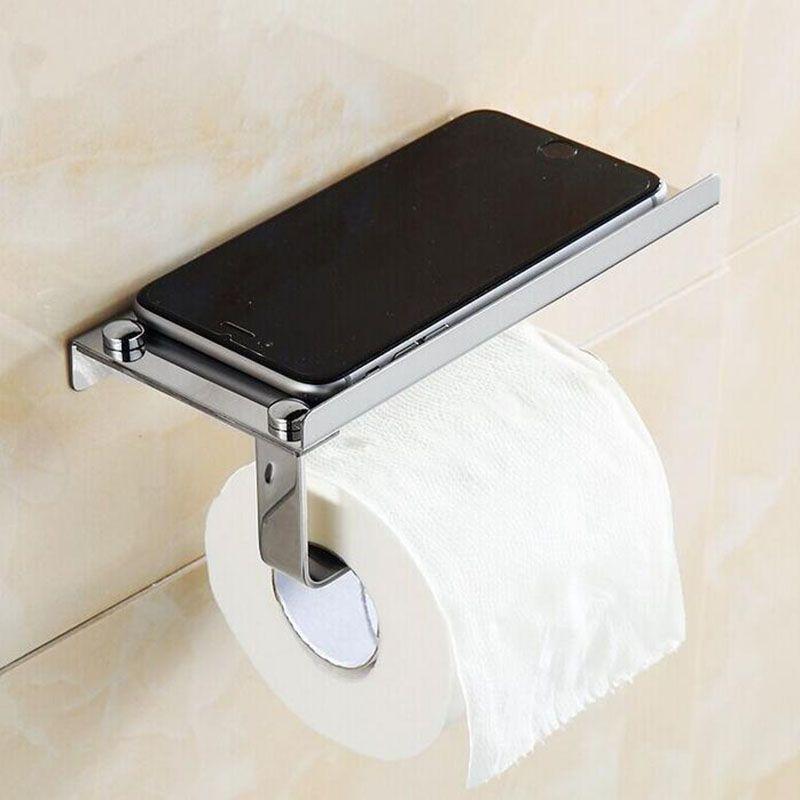 Stainless Steel Simple Paper Roll Rack Holder Toilet Tissue Holder