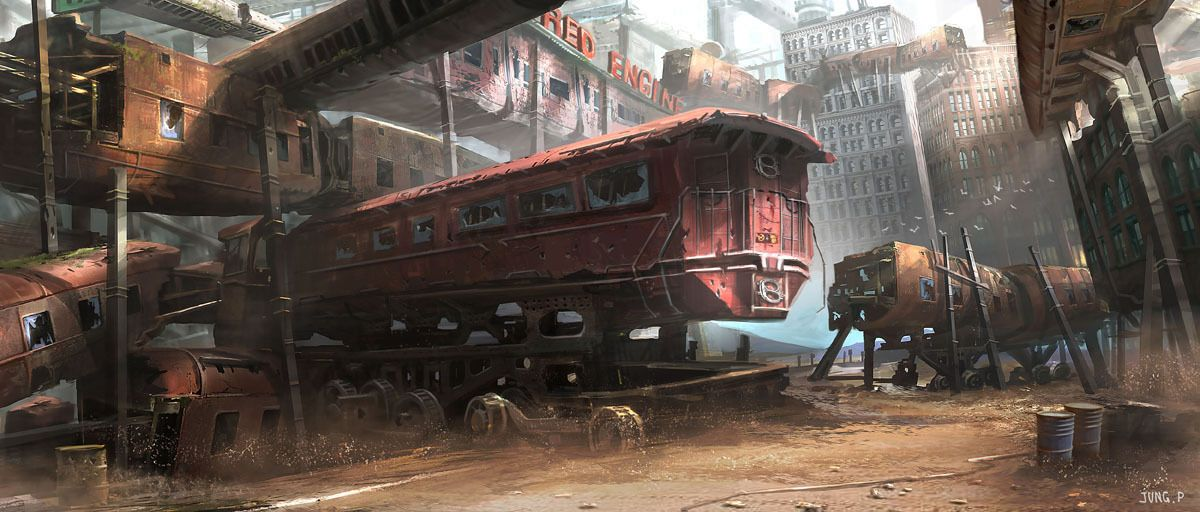 shanty train by jung park | 2D | CGSociety