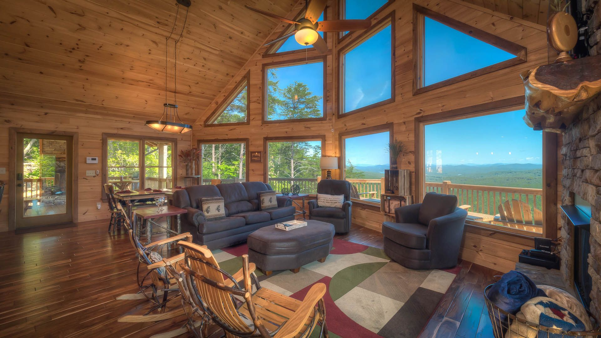 in pin serenity ridge georgia mountain blue rental cabin top weekend cabins rentals ga