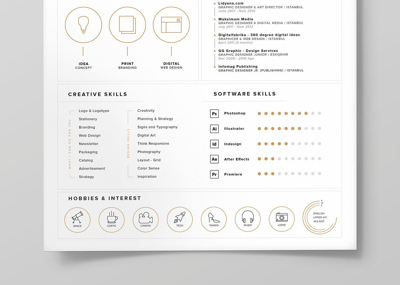 FREE Resume Template + Icons (Self Promotion) on Behance