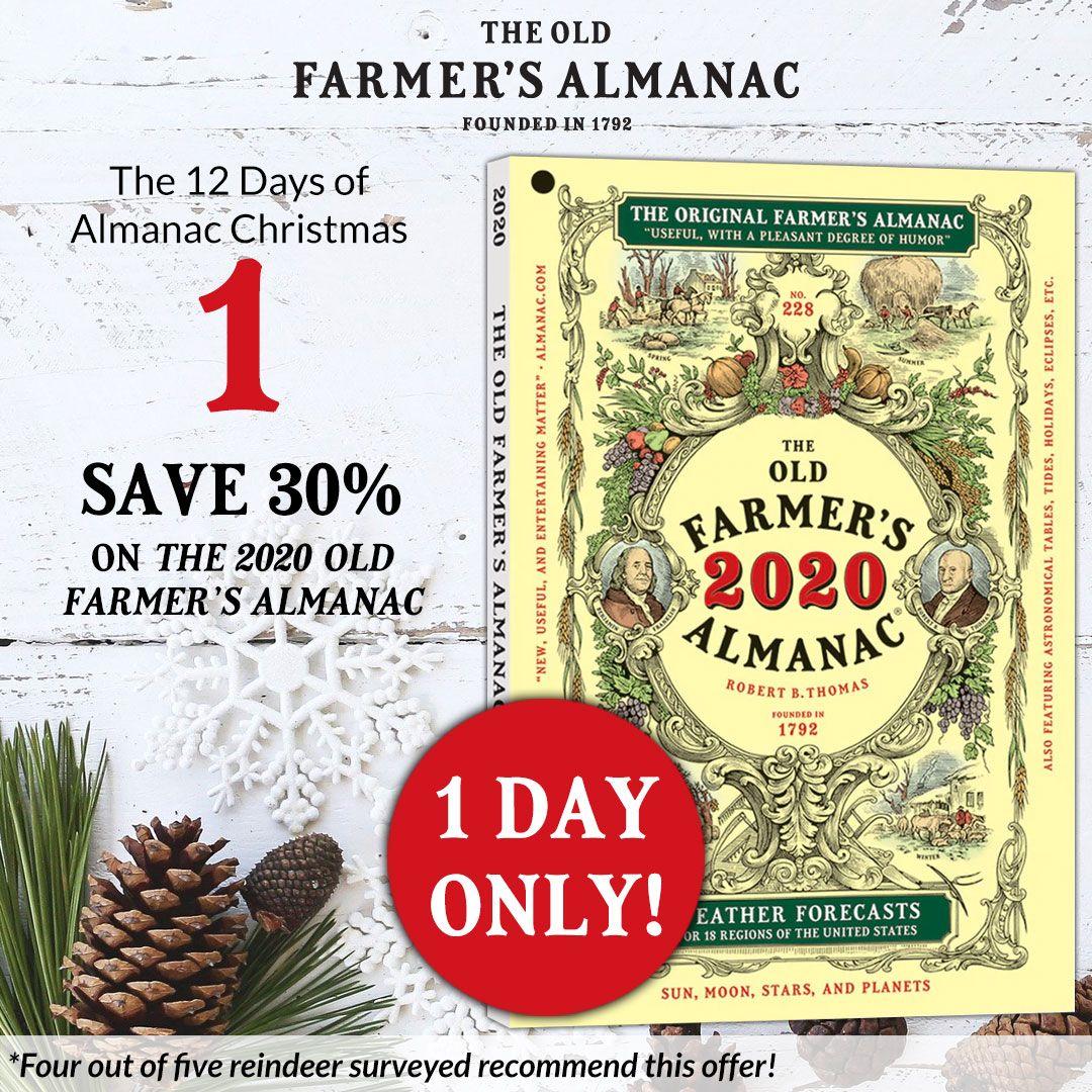 Farmers Almanac Christmas Day 2020 12 Days of Almanac Christmas: Day 1   Old farmers almanac, Farmers