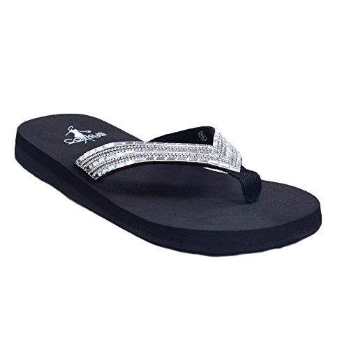 1714c0f55709 Corkys Womens Misty FlipFlop Sandal 7 BlackClear    This is an Amazon  Affiliate link. You can get additional details at the image link.