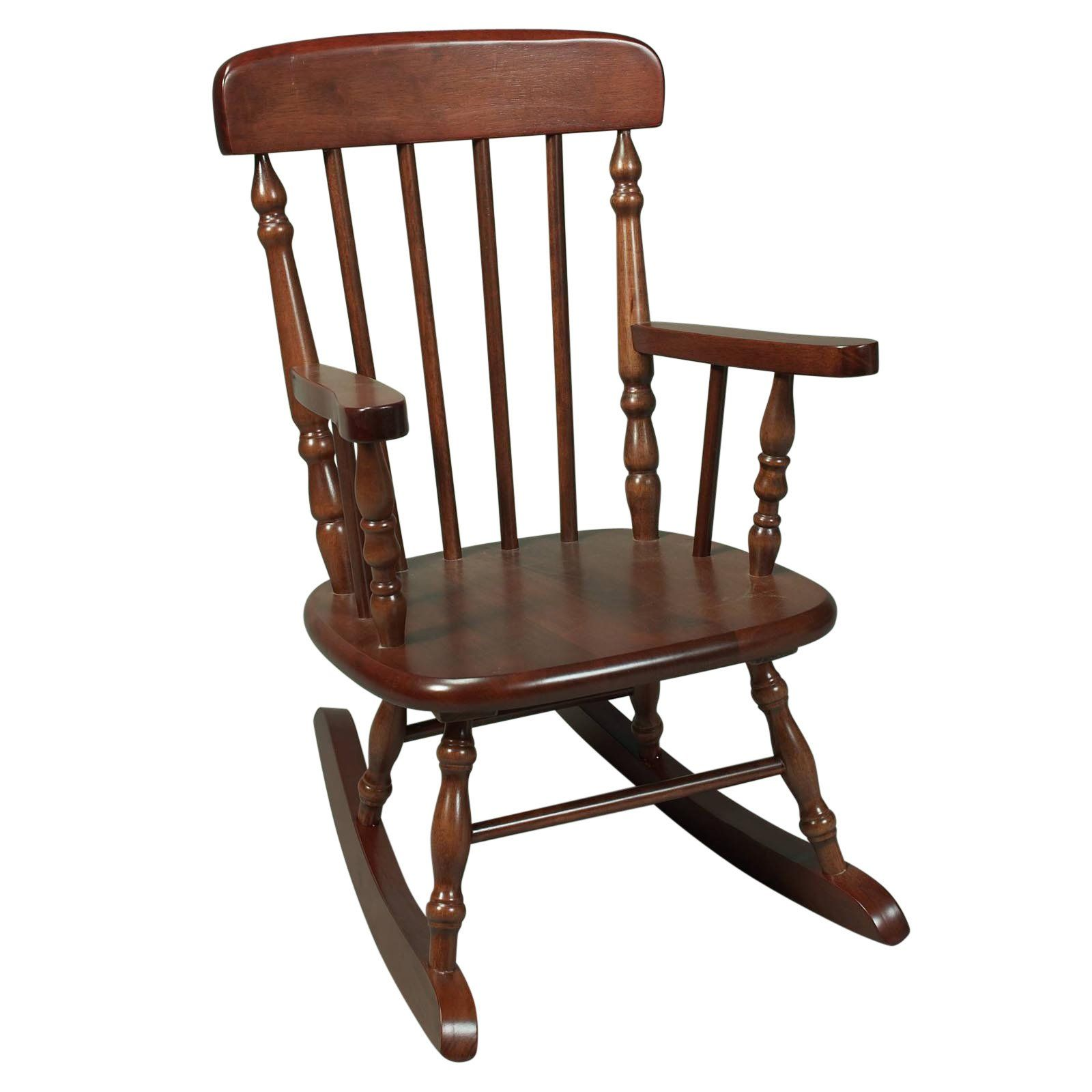 Child Wooden Rocking Chair Kids Spindle Rocking Chair Natural In 2019 Products Wooden