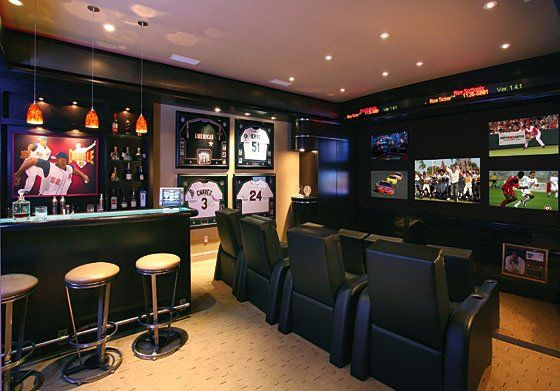 Sports bar at home...  Perfect for my ADHD personality