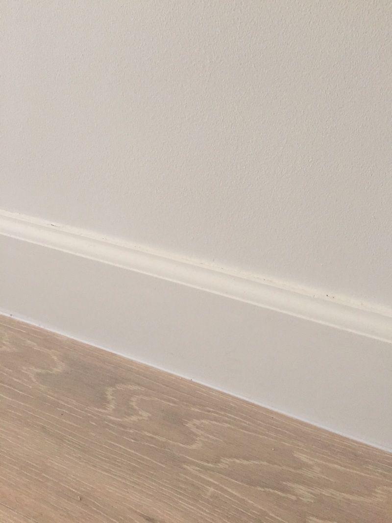 Colonial style baseboard against oak floors | Baseboards | Baseboard