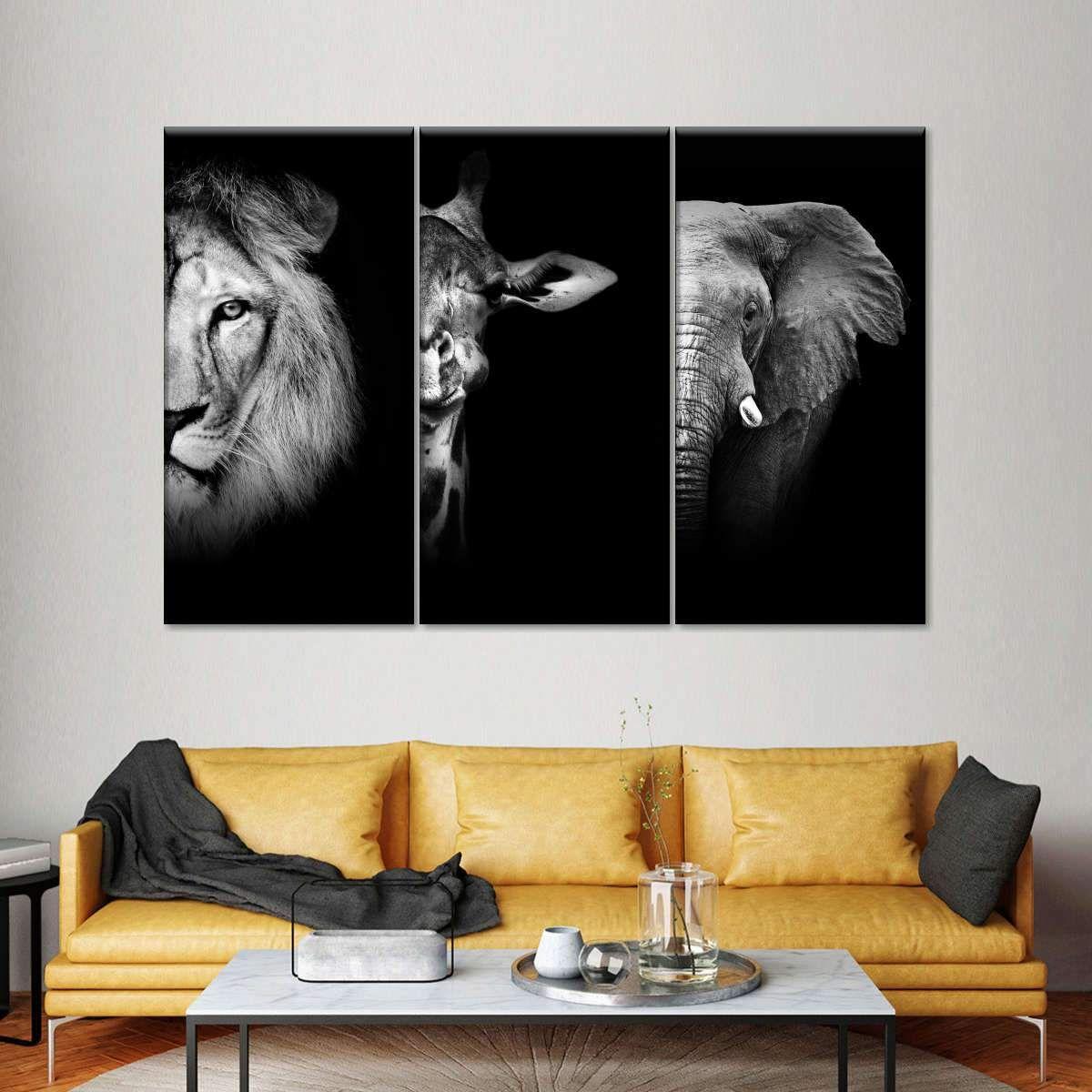 Wildlife Portraits Multi Panel Canvas Wall Art Canvas Wall Art Canvas Art Prints Canvas