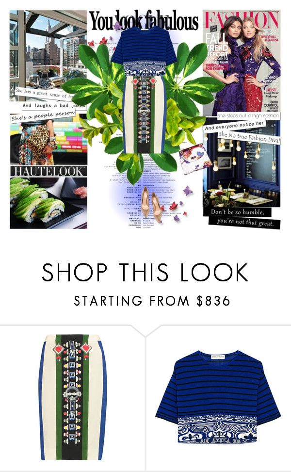 """""""Street fashion!"""" by aziafazi ❤ liked on Polyvore featuring Clu, Mary Katrantzou, Emilio Pucci, Gianvito Rossi, women's clothing, women, female, woman, misses and juniors"""