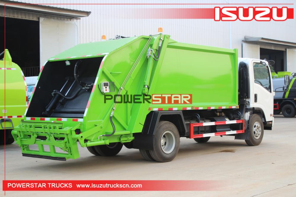 8cbm 10cbm Elf700p Garbage Vehicle Trash Compactor Truck Isuzu Https Www Isuzutruckscn Com Brand New 8 Cbm 10cbm Elf Waste C In 2020 Trucks Compactor Garbage Truck