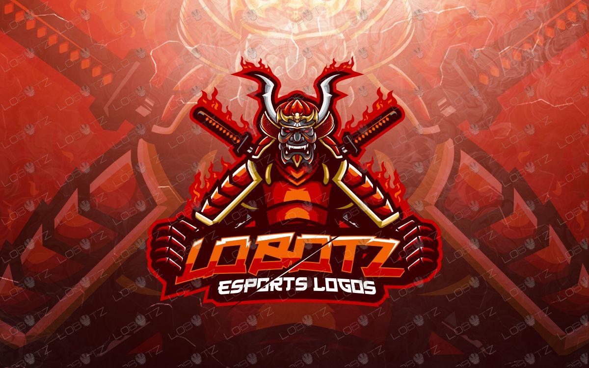 Samurai Mascot Logo Samurai Esports Logo For Sale Lobotz