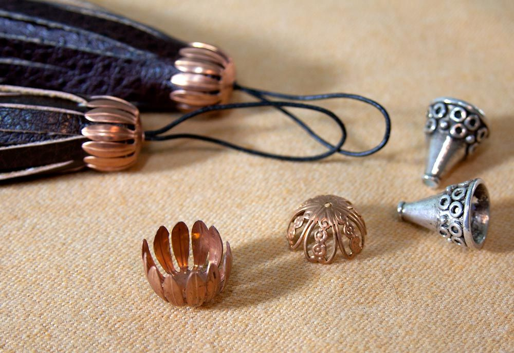 How To Make Faux Leather Tassels Or Any Kind Of Tassel With A Cap