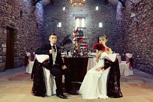 b38ba7d260 An elegant gothic wedding inspiration shoot from Browsholme Hall ...