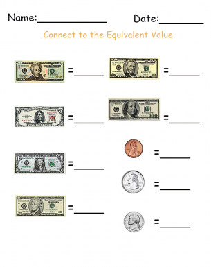 Write The Denomination Money Printable Worksheets  Give A Like #classroom
