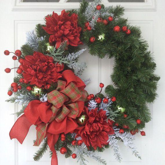 Christmas Wreath-Holiday Wreath-Traditional от ReginasGarden