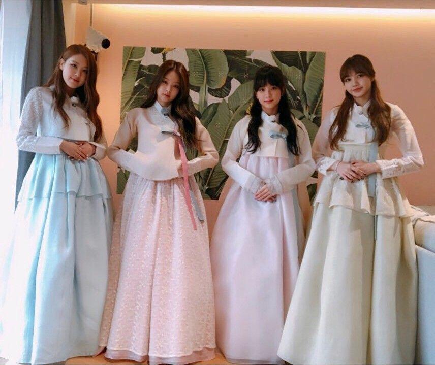 Blackpink Dengan Gambar Gadis Korea Pakaian Model Aktris