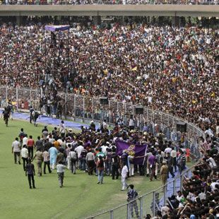 A Massive Crowd Turned Up At Eden Gardens To Cheer The Victorious