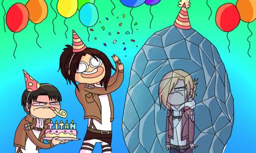 """""""HAPPY BIRTHDAY, ANNIE."""" Attack on titan funny, Attack"""