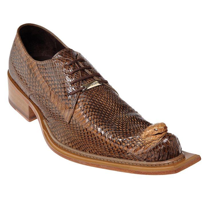 950ad11a8c22d Mens Snakeskin Shoes by Belvedere Camel Cobra Shoes 3402 | Men's ...