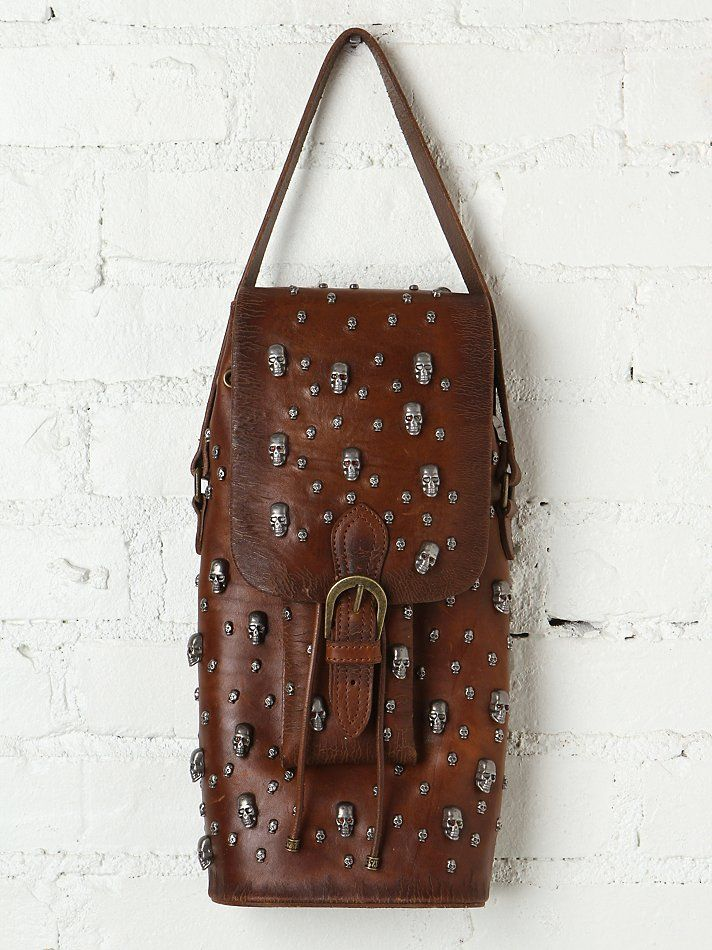 Aquarius LTD Skull Bucket Bag at Free People Clothing Boutique