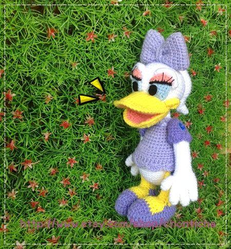 Daisy Duck 85 Inches Pdf Amigurumi Crochet Pattern Daisy Duck
