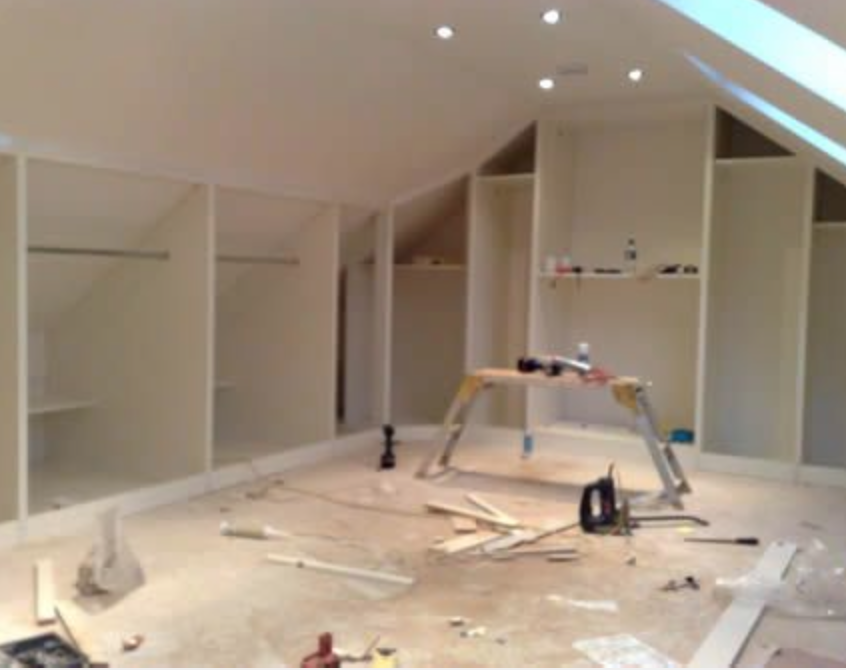 Building Phase Showing Angled Hanging Space Attic Bedrooms Loft Spaces Attic Apartment