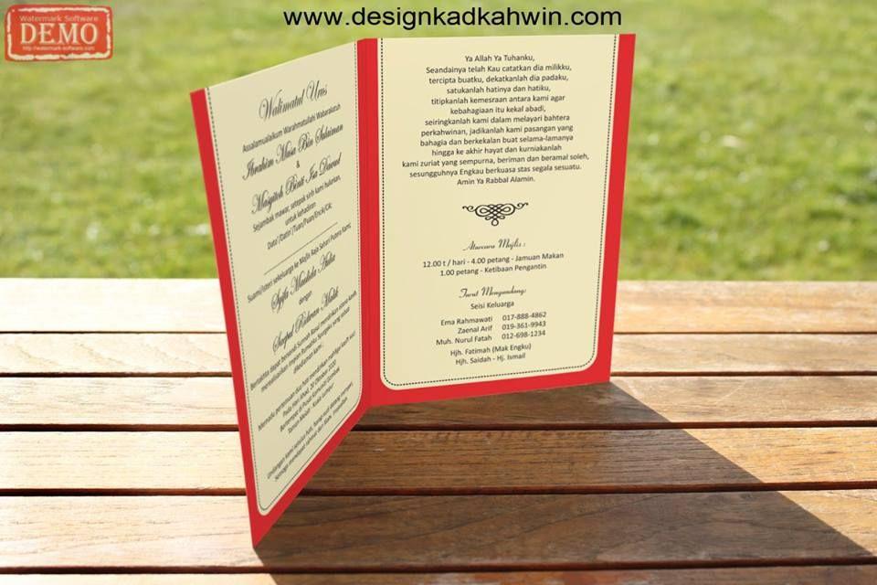 Template Design Kad Kahwin 05 The Wedding Produk