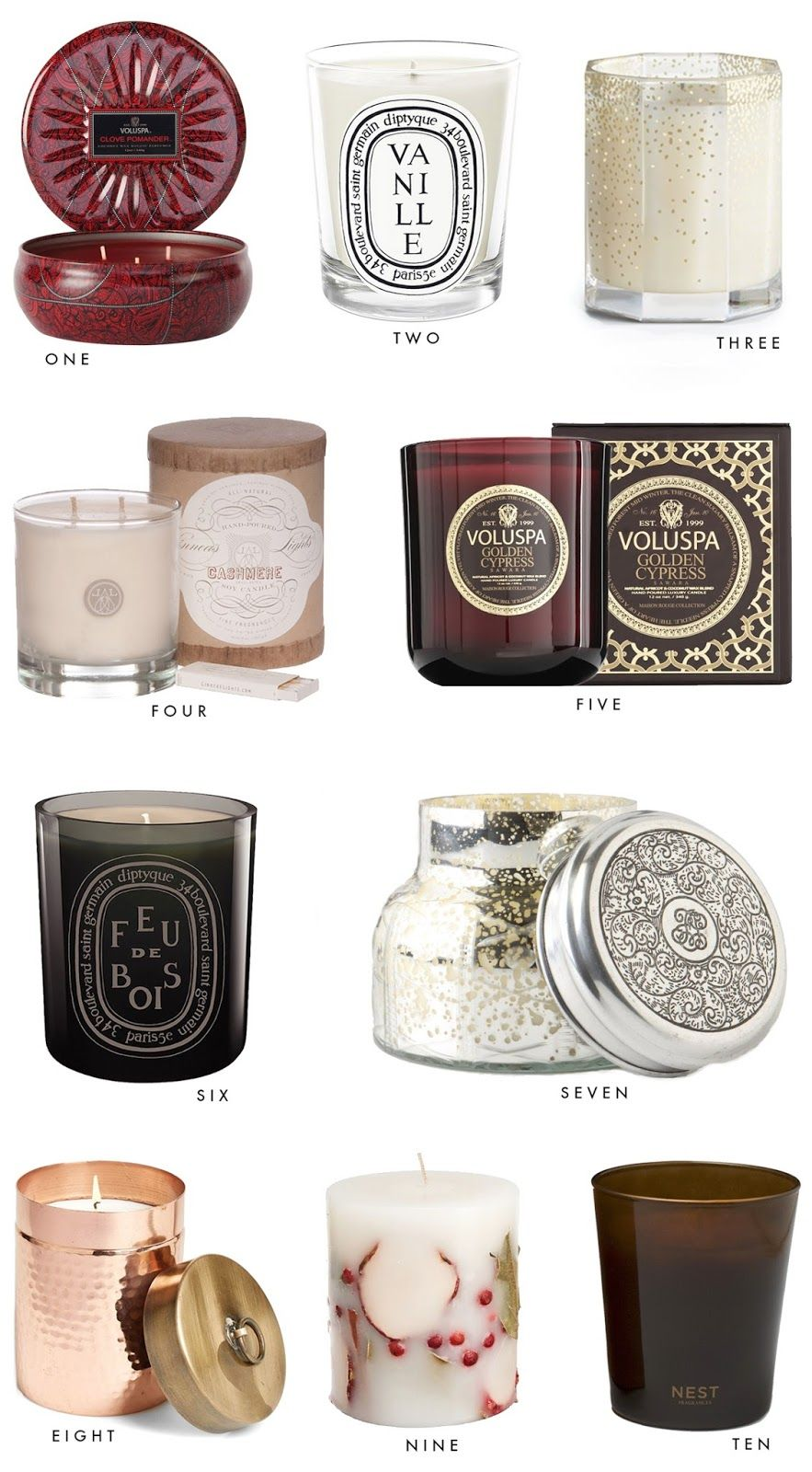 10 Favorite Candles for Fall