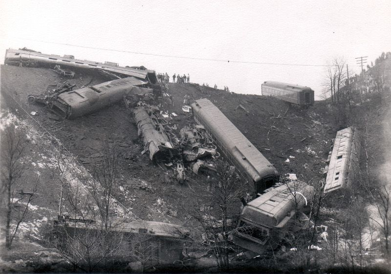 Courtesy Ford Altoona Pa >> Red Arrow train wreck near Gallitzin,PA | Wrecked | Abandoned train, Railroad pictures ...
