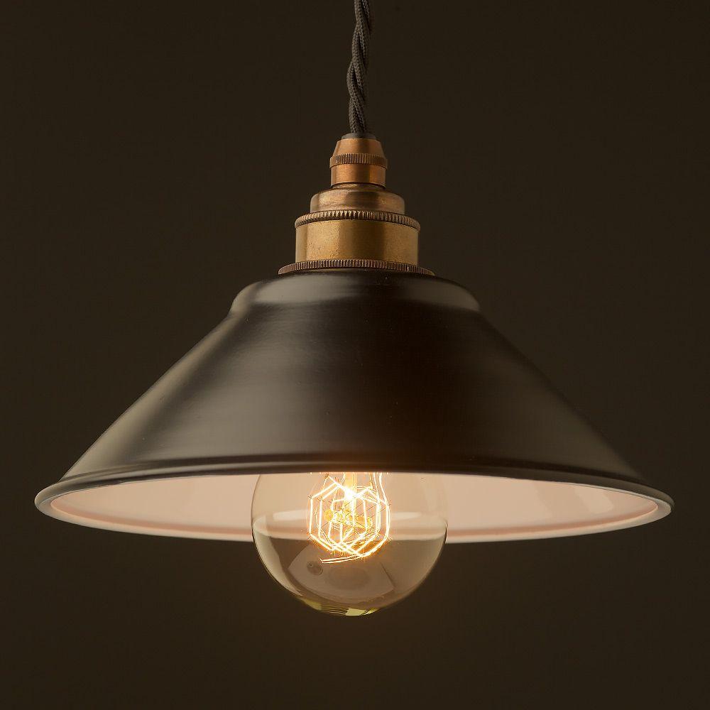 Flat Black light shade 12mm Pendant   Steel lighting, Light ...