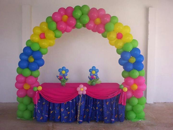 Flower Arch Over A Table. Birthday Balloon DecorationsBirthday ...