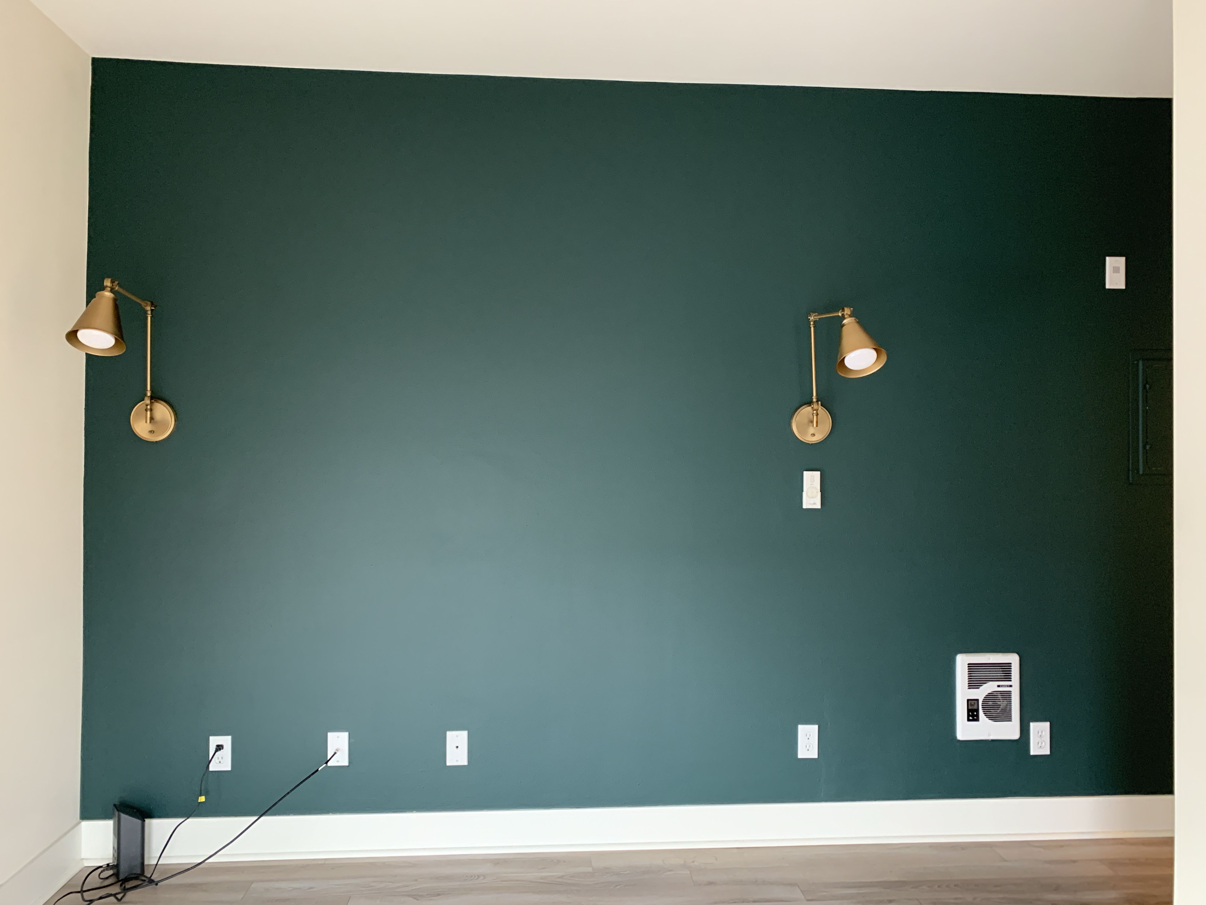 Green Accent Wall Painted An Accent Wall In Benjamin Moore Tarrytown Green