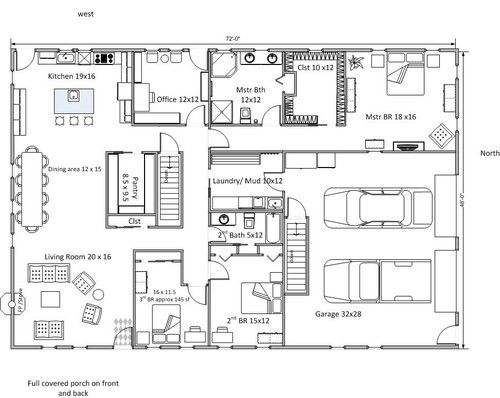 Do You Think This Floor Plan Will Work? | Rectangle House Plans Home ...