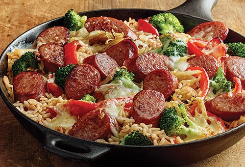 Success Easy Smoked Sausage And Rice Skillet Success Hillshire Farm Sausage Recipes Sausage Skillet Recipe Smoked Sausage