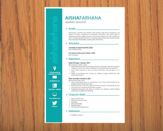 Modern Microsoft Word Resume 1 and 2 pages Template by INKPOWER - resume template for pages