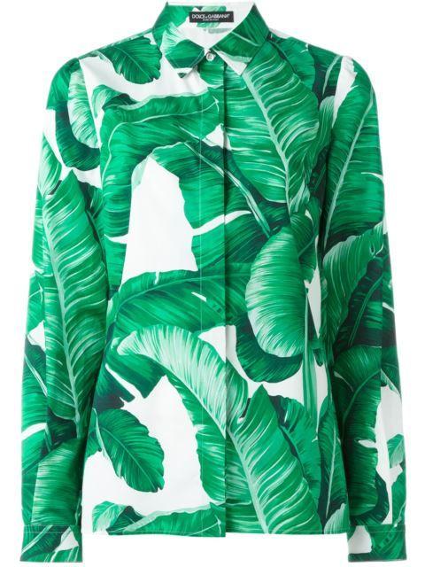 d9368f4b DOLCE & GABBANA Banana Leaf Print Shirt. #dolcegabbana #cloth #shirt ...