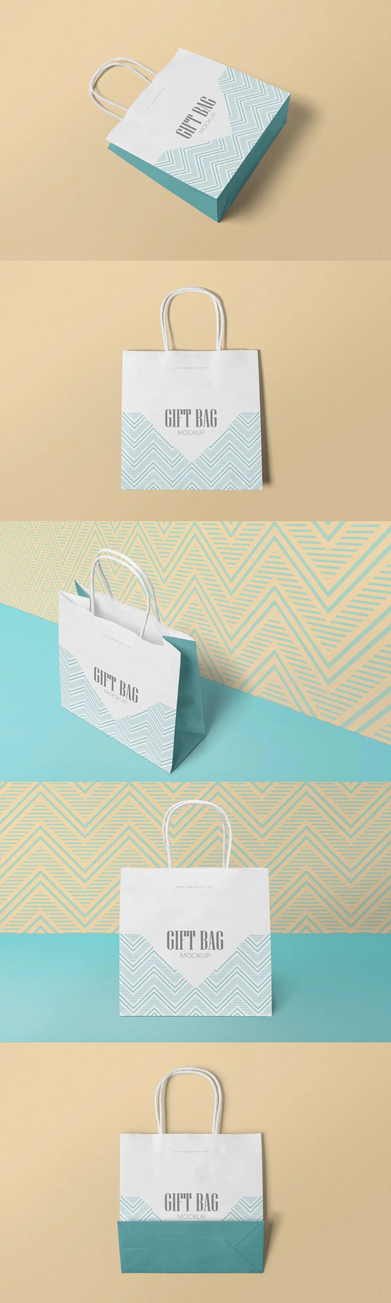 Download Gift Bag Mockups By Zippypixels On Envato Elements Bag Mockup Gift Bag Invitation Mockup