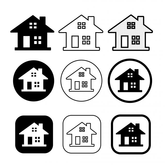Simple House And Home Icon Symbol Sign Vector And Png Home Icon Symbols Simple House