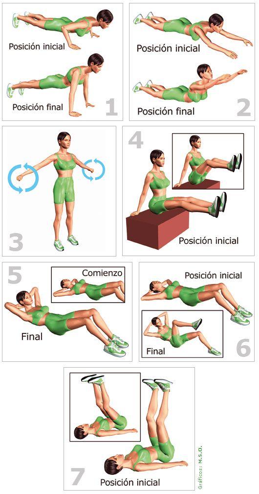 rutina de ejercicios para abdomen y cintura mujeres en casa